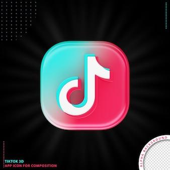 Ikona aplikacji tiktok 3d