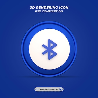 Ikona bluetooth w renderowaniu 3d