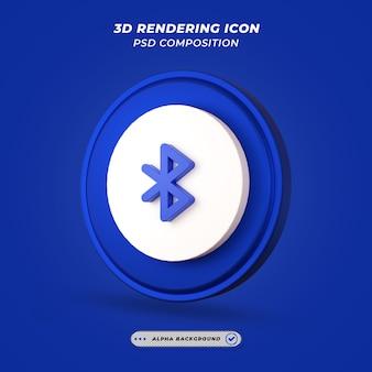 Ikona bluetoth w renderowaniu 3d