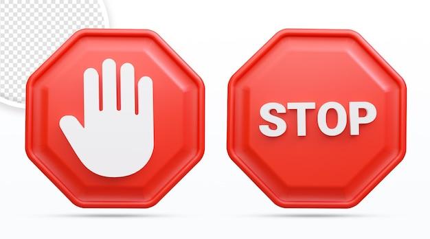 Ikona dłoni stop znak stop