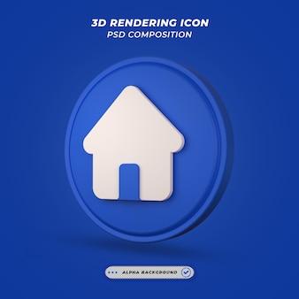 Ikona domu w renderowaniu 3d