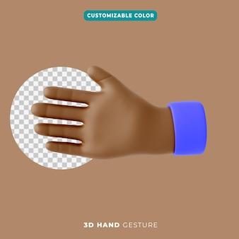 Ikona gestu uścisk dłoni 3d