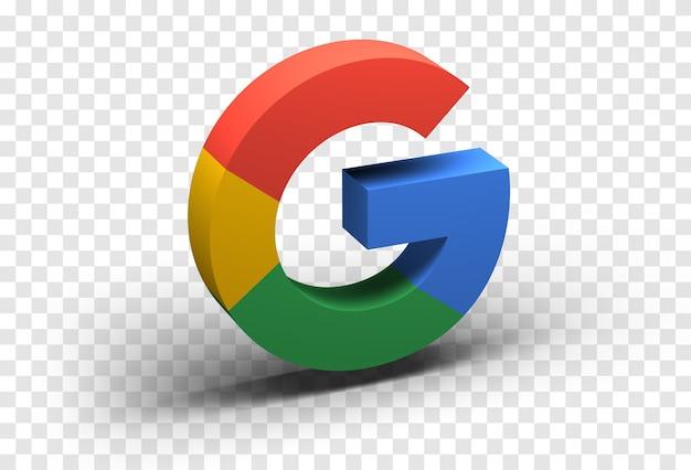 Ikona google na białym tle
