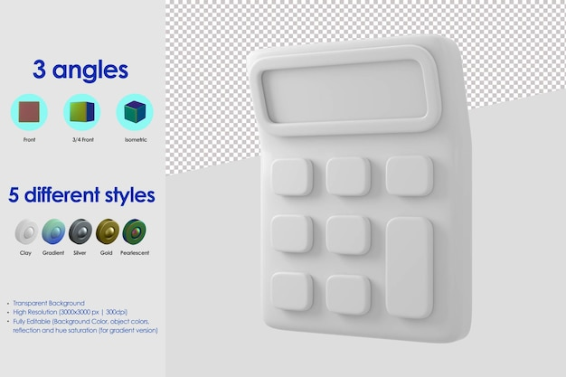 Ikona kalkulatora 3d