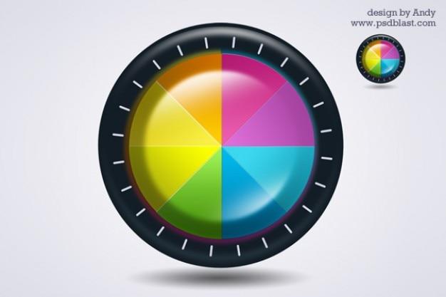 Ikona koła kolorów