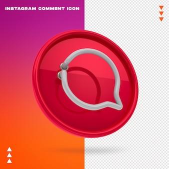 Ikona Komentarza Na Instagramie Premium Psd