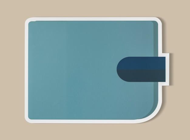 Ikona koncepcja niebieski portfel