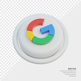 Ikona koncepcji logo izometrycznego stylu google w stylu 3d w rundzie na białym tle