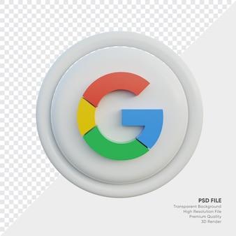 Ikona koncepcji logo w stylu google 3d w rundzie na białym tle