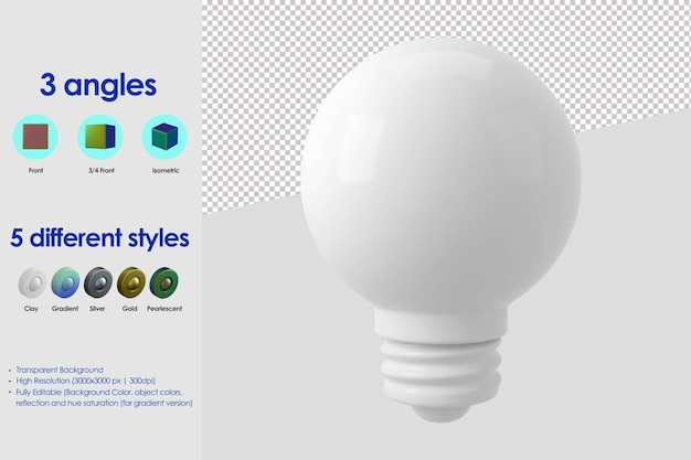 Ikona lampy 3d