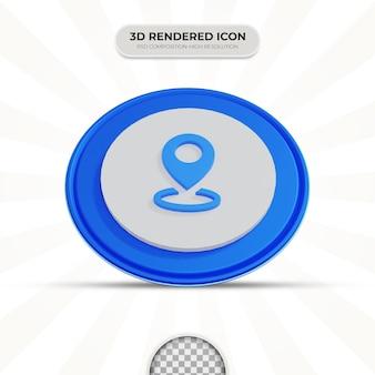 Ikona lokalizacji renderowania 3d