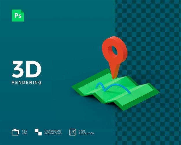 Ikona mapy 3d