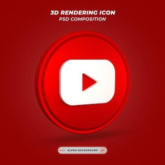Ikona mediów społecznościowych messenger renderowania 3d