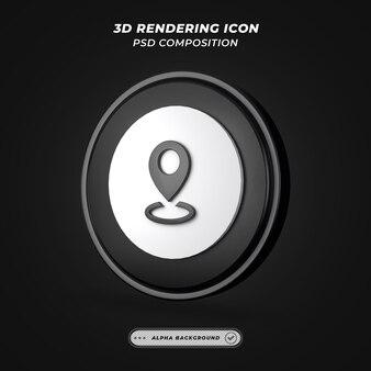 Ikona miejsca lub lokalizacji w renderingu 3d