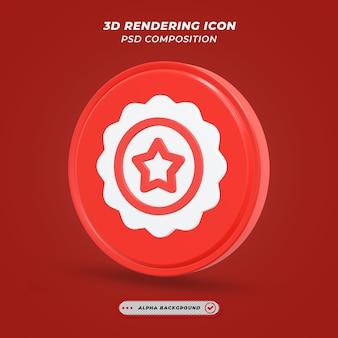Ikona oceny biegów w renderowaniu 3d