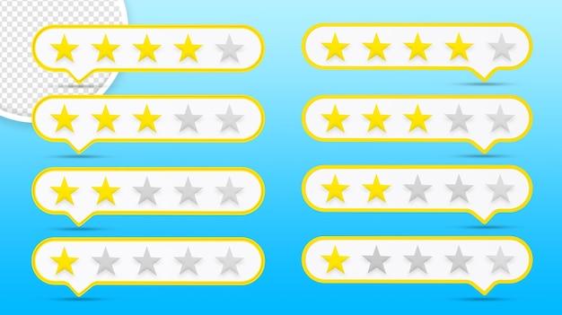 Ikona oceny gwiazdek na białym tle