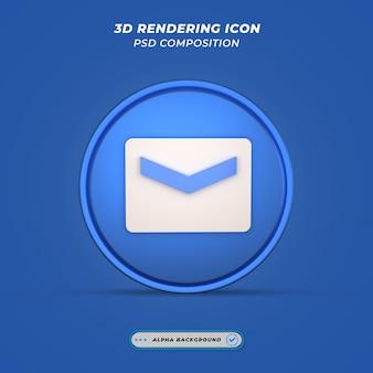 Ikona poczty w renderowaniu 3d