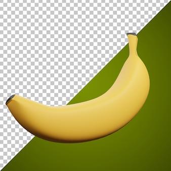 Ikona pojedynczego banana 3d