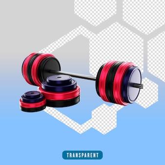 Ikona renderowania 3d barble siłownia sprzęt