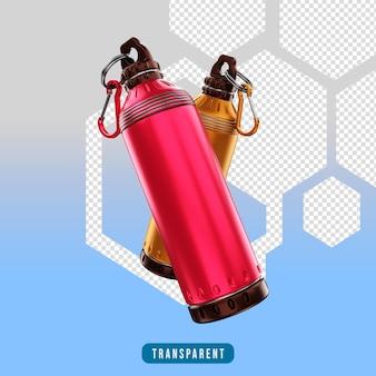 Ikona renderowania 3d butelka sprzęt do ćwiczeń sportowych