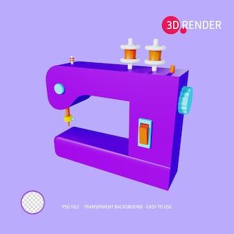 Ikona renderowania 3d maszyna do szycia