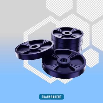Ikona renderowania 3d siłownia płyta sprzęt do ćwiczeń