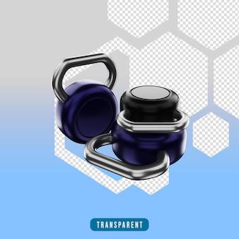 Ikona renderowania 3d sprzęt do ćwiczeń kettlebell