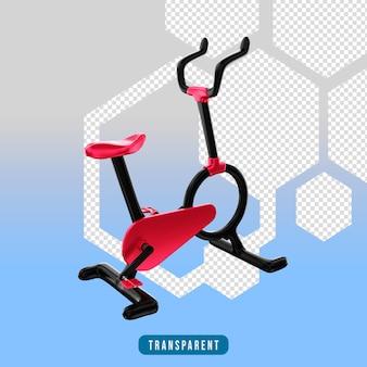 Ikona renderowania 3d sprzęt do ćwiczeń na rowerze stacjonarnym