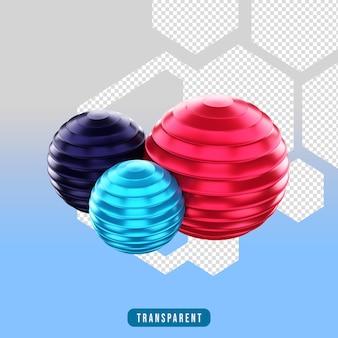 Ikona renderowania 3d sprzęt do ćwiczeń pilates ball