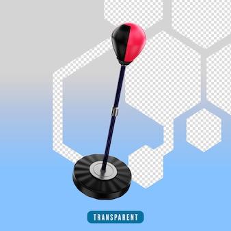Ikona renderowania 3d stały sprzęt gimnastyczny z piłką prędkości