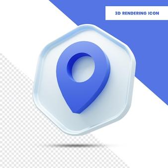 Ikona renderowania lokalizacji 3d
