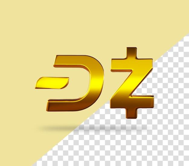 Ikona renderowania złotej monety kryptowaluty vs zcash