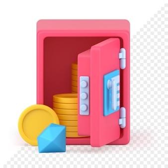 Ikona sejfu bankowego 3d