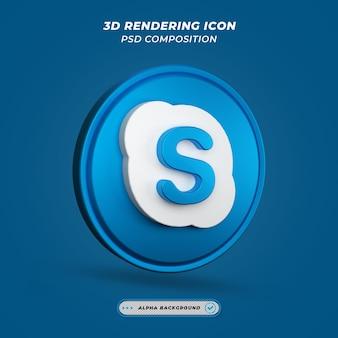 Ikona skypee w renderowaniu 3d