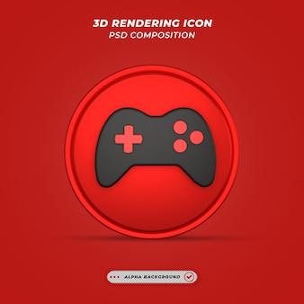 Ikona sprzętu w grze w renderowaniu 3d