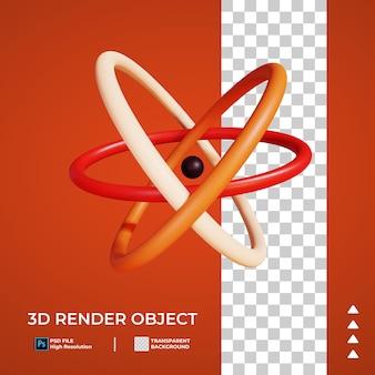 Ikona struktury atomowej 3d