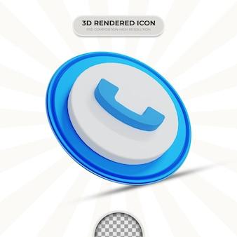 Ikona telefonu renderowania 3d