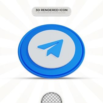 Ikona telegramu renderowania 3d