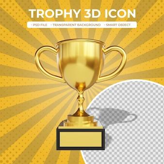 Ikona trofeum renderowania 3d