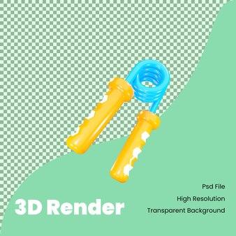 Ikona uchwytu dłoni renderowania 3d