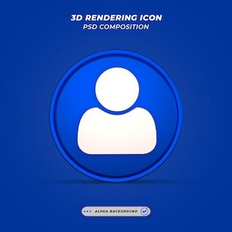 Ikona użytkownika w renderowaniu 3d
