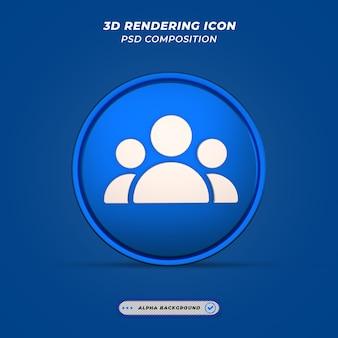 Ikona użytkowników w renderowaniu 3d