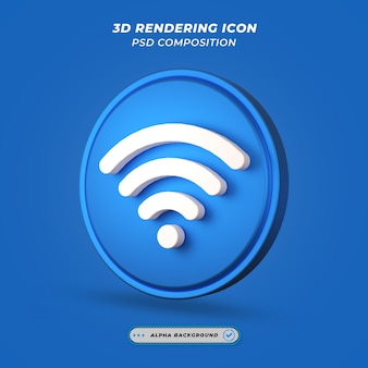 Ikona wi-fi w renderowaniu 3d