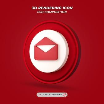 Ikona wiadomości e-mail w renderowaniu 3d