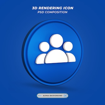 Ikona wielu użytkowników w renderowaniu 3d