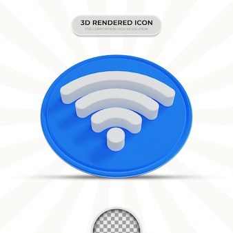Ikona wifi renderowania 3d