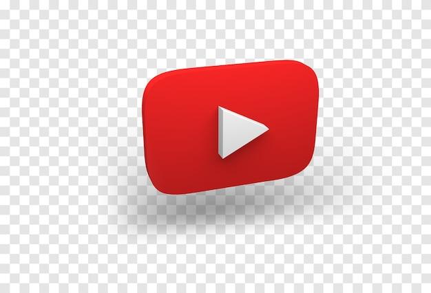 Ikona youtube na białym tle