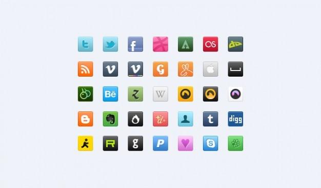 Ikony psd społecznych ikon