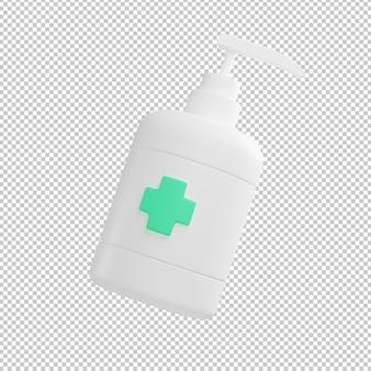 Ilustracja 3d butelki mydła w płynie