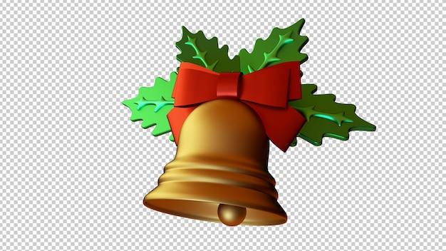 Ilustracja 3d Jingle Bells Samodzielnie Premium Psd